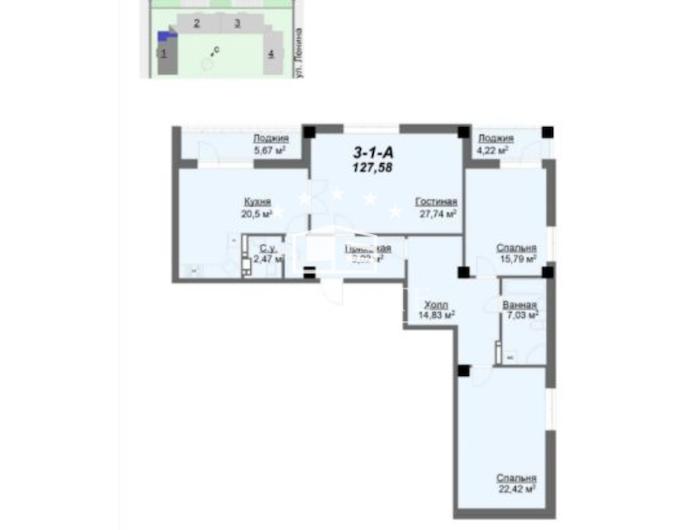 """3-комнатная квартира в сданом престижном новострое ЖК """"Резиденция"""""""